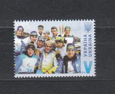 Ukraine MNH** 2018 Ukrainian Paralympians Mi 1748 M - Winter 2018: Pyeongchang
