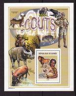 Guinea 2004, S/s Lion, Bird, Scouting, Miblock 866, MNH - Guinea (1958-...)