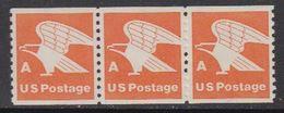 USA 1978 Eagle A 1v (coil, Strip Of 3) ** Mnh (41803E) - Verenigde Staten