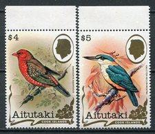 1982 -AITUTAKI-BIRDS-OISEAUX-M.N.H.- 2 VAL.LUXE !!! - Aitutaki