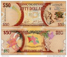 GUYANA       50 Dollars       Comm.       P-41       2016       UNC - Guyana