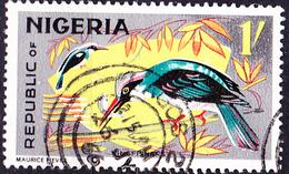 Nigeria - Blaubrustliest (Halcyon Malimbica) (MiNr: 183 A) 1966 - Gest Used Obl - Nigeria (1961-...)