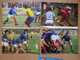 Lot De Photos De Joueurs De Rugby Des Années 70 - Rugby