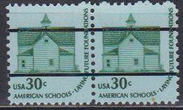 USA 1979 American Schools 1v Precancelled (pair) ** Mnh (41803G) - Verenigde Staten