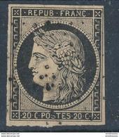 N°3 NOIR INTENSE OBLITERATION ETOILE DE POINTS - 1849-1850 Ceres
