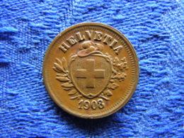 SWITZERLAND 1 RAPPEN 1908, KM3.2 - Switzerland