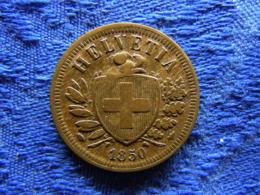 SWITZERLAND 2 RAPPEN 1850, KM4.1 Cleaned - Switzerland