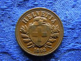 SWITZERLAND 2 RAPPEN 1893, KM4.2 - Switzerland