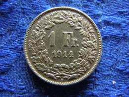 SWITZERLAND 1 FRANC 1914, KM24 - Switzerland