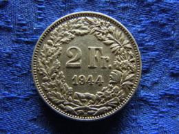 SWITZERLAND 2 FRANCS 1944, KM21 - Schweiz
