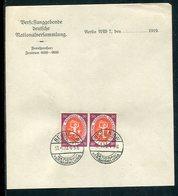 """Deutsches Reich / 1920 / Mi. 110 Waagr. Paar A. Briefpapier """"Nationalversammlung"""", So-Stempel Berlin (7150) - Deutschland"""
