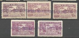 ALGERIE COLIS POSTAUX N° 90 à 94 NEUF** LUXE  SANS CHARNIERE  / MNH - Algérie (1924-1962)