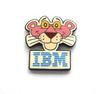 Pin Pin`s  IBM - LA PANTHÈRE ROSE THE PINK PANTER - Walt Disney - Informatique