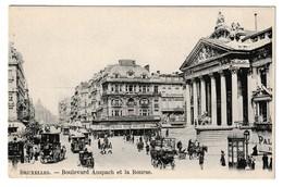 Bruxelles Boulevard Anspach Et La Bourse Distillerie Vandenbergh Brasserie Brussel - Lanen, Boulevards