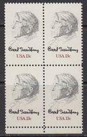 USA 1978 Carl Sandburg 1v Bl Of 4 ** Mnh (41803M) - Verenigde Staten