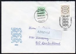 Estland 1992 MiNr. 186, 184  Auf Brief Von TALLINN Nach Deutschland - Estland