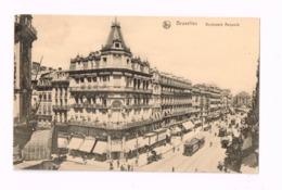 Boulevard Anspach.Expédié En Feldpost à Stuttgart.TRamway. - Lanen, Boulevards