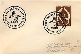 SVEZIA SVERIGE - SKOVDA  1957 - NORDISKA RYTTARSPELEN  -  NORDIC RACE - Ippica