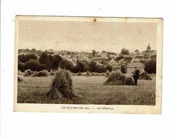 Cpa LES AIX D ANGILLON Vue Générale Homme à La Pose Bottes De Foin Ou Paille - La Cigogne - Autres Communes