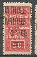 ALGERIE COLIS POSTAUX N° 25 NEUF** SANS CHARNIERE  / MNH - Algérie (1924-1962)