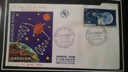 1°  Jour.d'émission..FDC ..MONACO .. 1962  .. 1° Liaison  T.V . Par Satellite  FRANCE AMERIQUE..PLUMEUR BODOU ..ANDOVER - Joint Issues