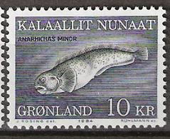 Greenland 1984 Marine Fauna, Spotted Wolffish, (Anarhichas Minor),Mi 154, MNH(**) - Grönland