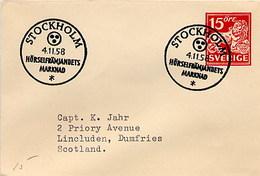 SVEZIA SVERIGE - STOCKHOLM 1958 - HORSELFRAMJANDET MARKNAD  -  MERCATO CROSS-BORDER - Ippica