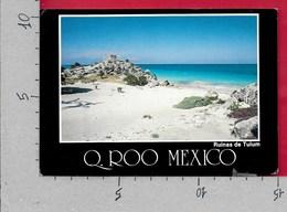 CARTOLINA VG MESSICO - Quintana Roo - Ruinas De Tulum - 10 X 15 - ANN. 1987 - Messico