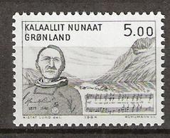 Greenland 1984 Henrik Lund (1875-1948), Komponist; Noten Aus Der Grönländischen Nationalhymne , Mi 153, MNH(**) - Grönland