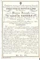 Faire-part Mortuaire Pierre Baron De CATERS Anvers 1861 - Obituary Notices