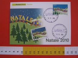 A.07 ITALIA ANNULLO - 2010 BIELLA NATALE TRENINO GIOCATTOLO TRENO TRAIN GIOCO LEGNO - Giochi