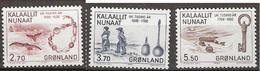 Greenland 1984 1000th Anniversary Of The Colonization Of Greenland By Europeans (V), Mi 148-150, MNH(**) - Grönland