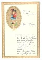Lettre De Voeux Avec Découpis ( Fillette Et Poupée ) 1961 (b246) - Enfants