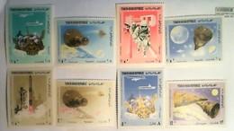 YEMEN ARAB REPUBLIC (YAR)  1966.- Astronaut, #Moon And Probes, #Rocket, #Spaceship. - Space