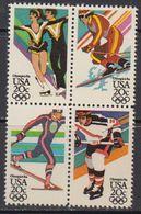 USA 1984 Olympic Wintergames 4v ** Mnh 41804A) - Verenigde Staten