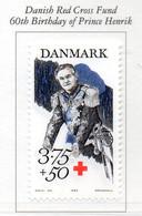 PIA - DANIMARCA -1994 : 60° Compleanno Del Principe Henrik - Sovrattassa A Favore Della Croce Rossa   - (Yv 1082) - Primo Soccorso