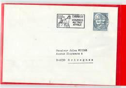 SUISSE  -  YVERDON  - 1979  COURSES AU TROT ATTELE' - Ippica