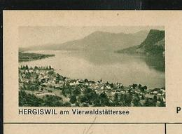 Carte Illustré Neuve N° 182 - 0164 D  -  HERGISWIL Am Vierwaldstättersee (Zumstein 2009) - Entiers Postaux