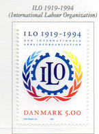 PIA - DANIMARCA -1994 : 75° Anniversario Dell' Organizzazione Internazionale Del Lavoro   - (Yv 1088) - Danimarca