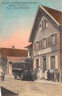 CPA 67 ENVIRONS DE BRUMATH SOUVENIR DE WINGERSHEIM AUBERGE AU CYGNE Voir Ancien Autobus D La Société Strasbourgeoise - Brumath