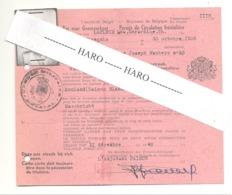 Royaume De Belgique - Permis De Corculation Frontalière  Avec Les Pays-Bas En 1948- Mouland / Maestricht  (b246) - Historische Dokumente