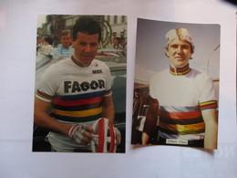 Cyclisme Lot De 2 Photos Kodak Roche Et Glauss - Radsport