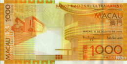Macau (BNU) 1000 Patacas (P84) 2010 -UNC - - Macao