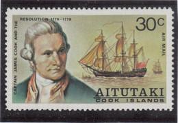 """VV2 - AITUTAKI - PA De 1974 ** MNH - Captain COOK Et """" H.M.S. RESOLUTION"""" - Aitutaki"""