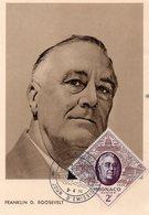 Monaco 1956 Belle Carte Maximum Franklin Delano Roosevelt 02809 - Maximum Cards