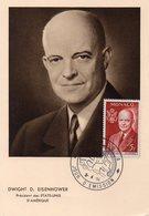 Monaco 1956 Belle Carte Maximum Dwight D. Eisenhower 02811 - Maximum Cards