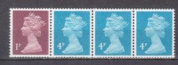 PGL AL255 - GRANDE BRETAGNE Yv N°1550Ac ** MACHINS Roulettes - 1952-.... (Elizabeth II)