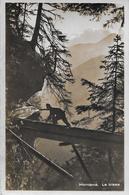 MONTANA → Le Bisse, Kontrolle Der Wasserzufuhr, Fotokarte Ca.1950 - VS Valais