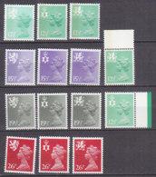 PGL BZ724 - GRANDE BRETAGNE Yv N°1027/38+a ** REGIONALES - 1952-.... (Elizabeth II)