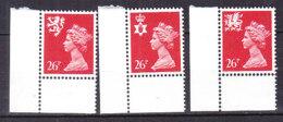 PGL BZ726 - GRANDE BRETAGNE Yv N°1036A/38A ** REGIONALES - 1952-.... (Elizabeth II)